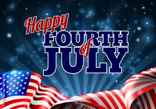 Fourth Of July American Flag Background Stock Image And Royalty