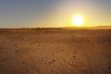 Beautiful views of desert