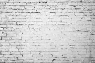 Old white brick wall, flat background