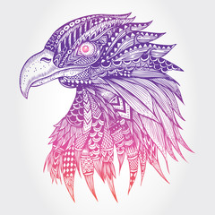 Abstract eagle illustration, Vector