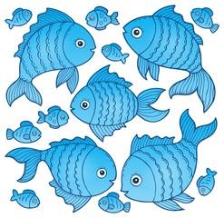 Fish drawings theme image 4