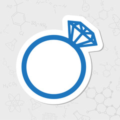 Vector wedding ring icon