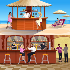 Cocktail People Composition Set
