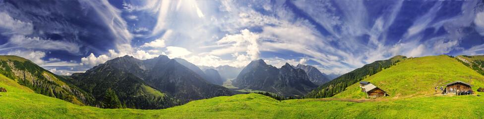 360° Karwendel Panorama mit Föhnwolken Fotomurales