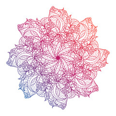 Vector Mandala, floral, flower, oriental circle pattern. Islam, Arabic, Indian, turkish, pakistan