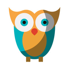 realistic colorful shading image of owl bird vector illustration