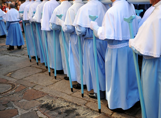 Procesión de la Virgen de la Montaña, patrona de Cáceres, España