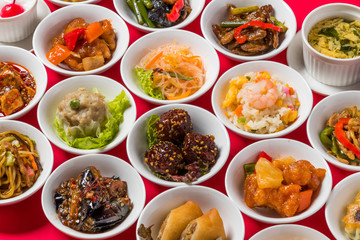 中華料理いろいろ Group picture of Chinese cuisine