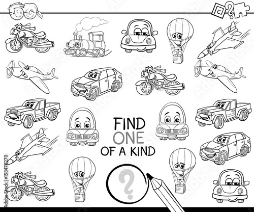 Find One Of A Kind Coloring Book Stock Image And Royalty Free