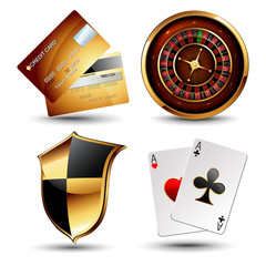 set of casino design elements
