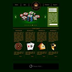 Web site template for casino