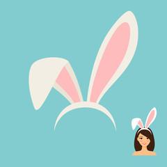 Bunny ears accessory icon