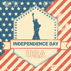 United States Flag Independence Day Holiday 4 July Banner Vector Illustration