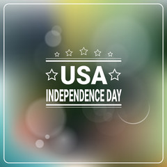 United States Independence Day Holiday 4 July Banner Greeting Card Flat Vector Illustration