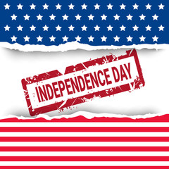 United States Flag Independence Day Holiday 4 July Banner Flat Vector Illustration
