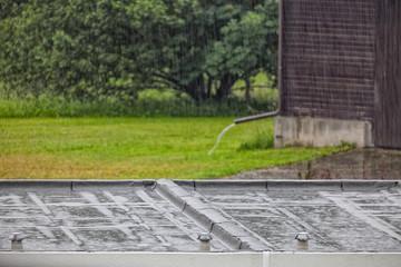 Regen Niederschlag Flachdach Starkregen
