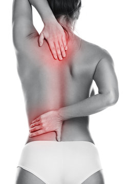 Woman with pain in her back