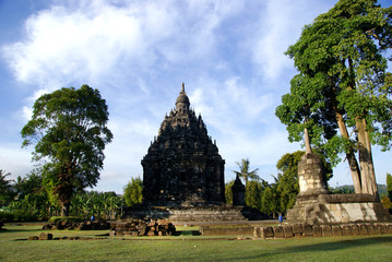 Sojiwan Temple is located nearly two kilometres southeast of Prambanan temple