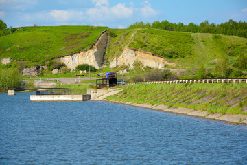 The dam of the Barachat reservoir