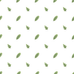 Leaves seamless pattern. vector illustration with leaves on background frame for Fun quote hipster design logo or label. Hand lettering, calligraphy, typography poster, banner.