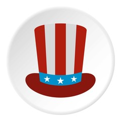 American hat icon, flat style