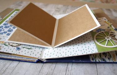 Scrapbooking, details of photoalbum