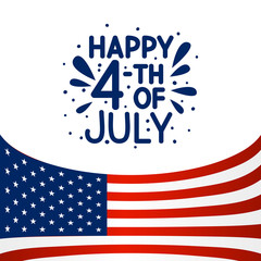 Independence day greeting card for Your design