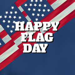 Abstract background Happy flag day vector background. Happy flag