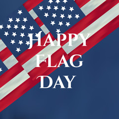 Happy flag day vector background. Happy flag day badge. U.S. Ind