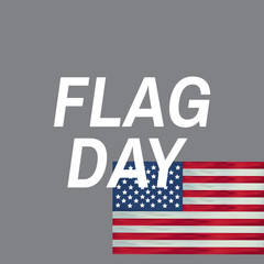 Happy flag day vector background. Happy flag day badge.