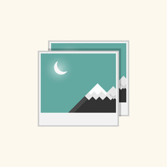 image design mountain and moon