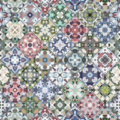 Collection of seamless square ornaments