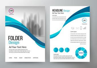 folder design flyer template vector