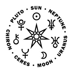 The Septener of New Age. The Star of Magicians of The New Age. Seven higher planets of Astrology.