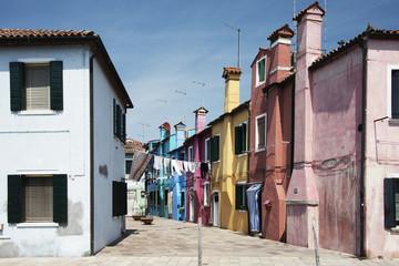 Paesaggio Italiano, abitazioni dell'isola di Burano