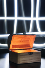 small treasure chest light brushed crossing