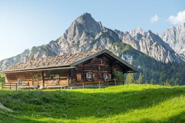 Alpine hut in the Austrian mountains
