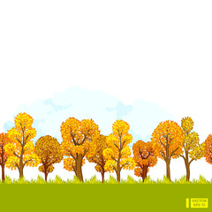 Seamless background, autumn forest