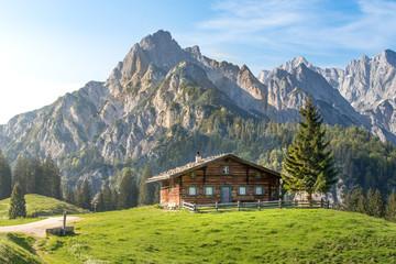 Alpine hut in the Austrian mountains Wall mural