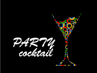 Cocktail party color vector