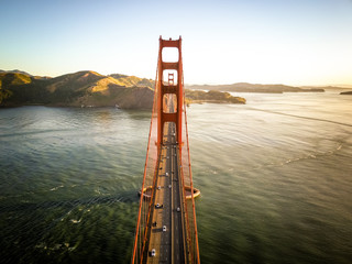 Aerial photo of Golden Gate Bridge in San Francisco California