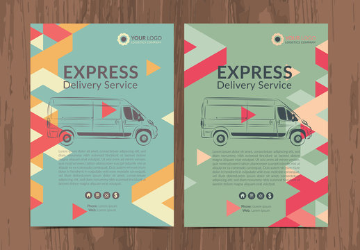 Delivery Service Flyer Layout 2