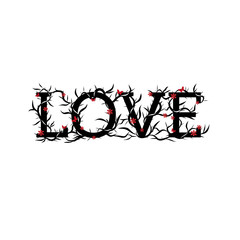 Abstract love lettering