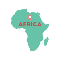 Flat web icon on white background Africa