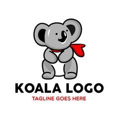 Unique Koala Logo Mascot Character Template