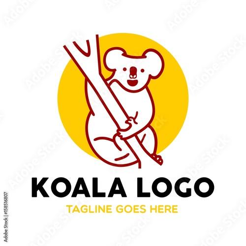 Unique Koala Logo Mascot Character Template\