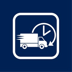 Delivery or cargo truck icon image vector illustration
