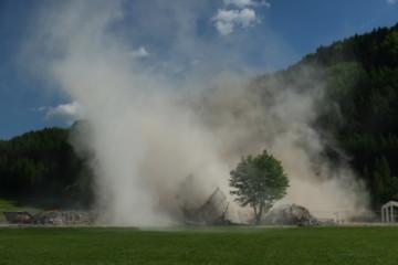 Turmsprengung in Pettenbach