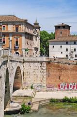 Roma, l'isola Tiberina da Trastevere