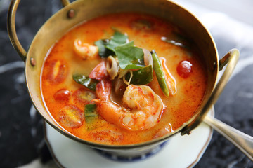 Shimp tom yum soup , Thai food